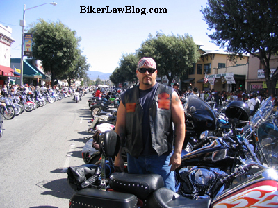 California Biker Motorcycle Lawyer Attorney Norman Gregory Fernandez at the Hollister Independence Day Rally