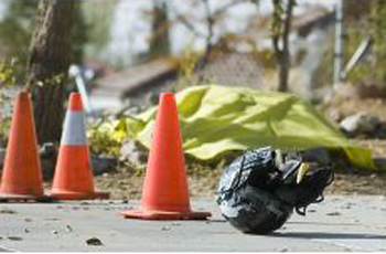 Victorville California Motorcycle Accident Scene
