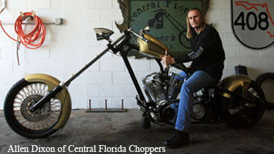 Allen Dixon of Central Florida Choppers on the Biker Lawyer Blog