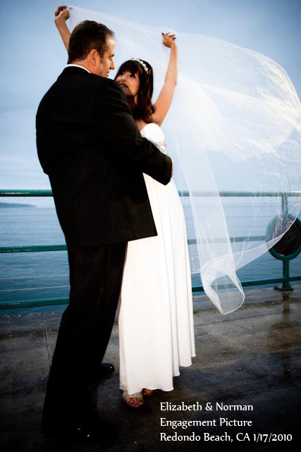 Elizabeth and Norman Engagement Photo, Redondo Beach, CA, 1-17-2010