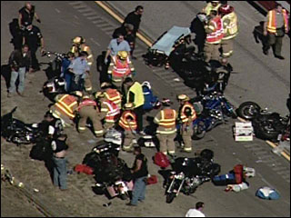 massive 30 motorcycle accident in Oregon