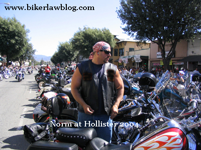 Norman Gregory Fernandez at the Hollister Biker Rally 2004