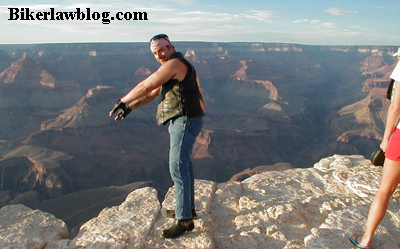Bike Motorcycle Lawyer Attorney Norman Gregory Fernandez at the Grand Canyon