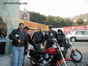 Hollywood Motorcycle Accident Lawyer Norman Gregory Fernandez with friends at Tower Records in Hollywood