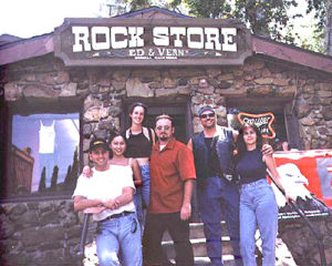 California Biker Lawyer Norman Gregory Fernandez at the Rock Store with friends.