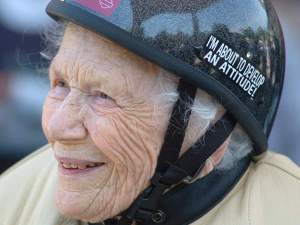 102 year old-biker chick