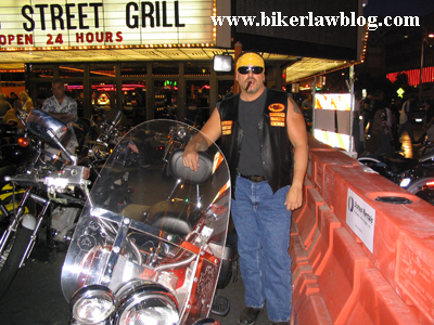 California Biker Attorney Norman Gregory Fernandez at the Las Vegas Biker Rally