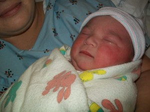 My Granddaughter Isabella Just after Being Born on April 12, 2011