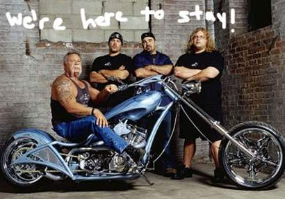 The guys from American Chopper in better days