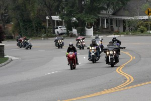 Motorcycle Riders about to ride up the Angeles Crest Highway