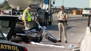 Scene of fatal Love Ride accident on the 5 Freeway.