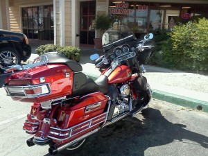 The Electra Glide Ultra Custom I am taking on the trip with me