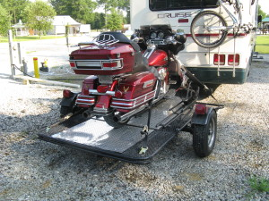 My Trinity 3 motorcycle trailer