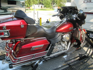 My Electra Glide on the Trinity 3 trailer