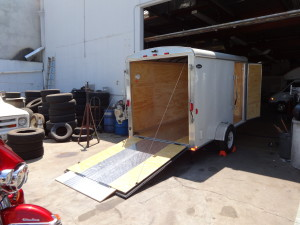 Enclosed Motorcycle trailer with Phase 1 upgrades done