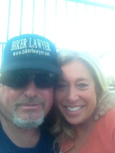 Biker Lawyer Norman Gregory Fernandez with his girlfriend Yvonne