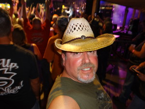 Biker Lawyer Norman Gregory Fernandez at a concert at the Sturgis 2013 motorcycle rally