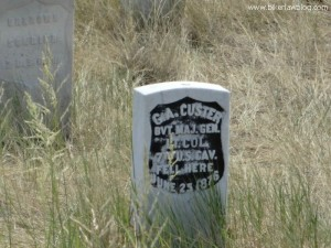 The grave of General George Armstrong Custer