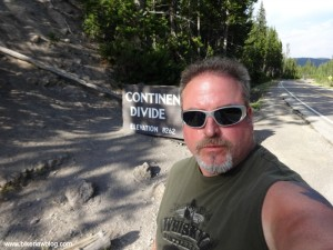 Motorcycle Accident Attorney Norman Gregory Fernandez at the Continental Divide, Yellowstone Park 8-2013