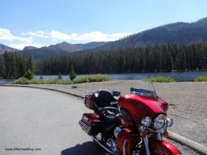 The best most beautiful motorcycle riding in the world. At over 8,000 feet, My Harley Davidson Electra Glide Ultra Classic, Yellowstone National Park, 8-2013