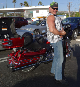 Biker and Motorcycle Accident Lawyer Norman Gregory Fernandez clowning around in San Clemente, CA
