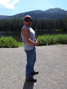Biker Lawyer Norman Gregory Fernandez at Yellowstone