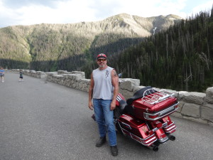California Motorcycle Accident Attorney and Biker Lawyer Norman Gregory Fernandez in Yellowstone National Forest