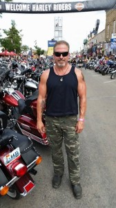 Biker Lawyer Norman Gregory Fernandez in Sturgis 2014