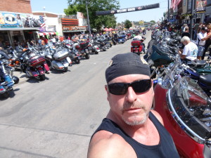 California motorcycle accident attorney Norman Gregory Fernandez at the 2015 Sturgis motorcycle rally