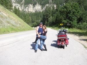 California motorcycle accident lawyer Norman Gregory Fernandez and friend having fun on the Black Hills scenic by way