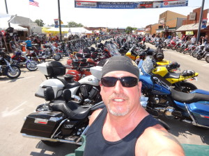 Biker Lawyer Norman Gregory Fernandez at Sturgis