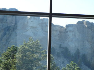 The view from our table at Mount Rushmore Sturgis 2015