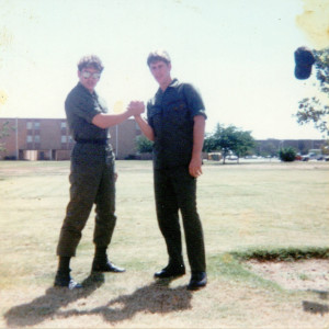 Norman Gregory Fernandez, Attorney at Law, on left, Sheppard AFB, TX, 1981