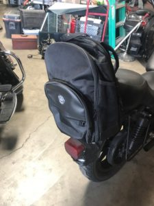 Viking motorcycle sissy bar backpack