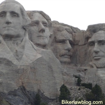 Barstow Motorcycle Accident Lawyer Norman Gregory Fernandez picture of Mount Rushmore, South Dakota