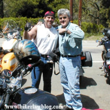 Beverly Hills Motorcycle Accident Attorney Norman Gregory Fernandez with Jay Leno at the Rock Store