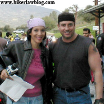 Biker Lawyer Norman Gregory Fernandez and Christine Devine of Fox News at Rock Store