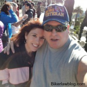 Burbank Motorcycle Accident Lawyer Norman Gregory Fernandez with his wife Teri