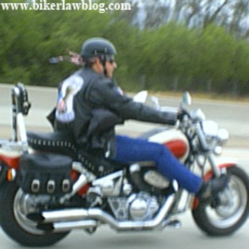 Calabasas California Motorcycle Lawyer Norman Gregory Fernandez riding on the 101