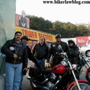 California Motorcycle Accident Attonrey Norman Gregory Fernandez with group of riders in Los Angeles California