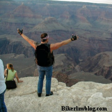 Carlsbad Motorcycle Accident Lawyer Norman Gregory Fernandez at the Grand Canyon