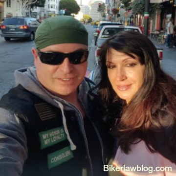 Cathedral City Motorcycle Accident Attorney Norman Gregory Fernandez with special friend Natalia Dona in San Francisco
