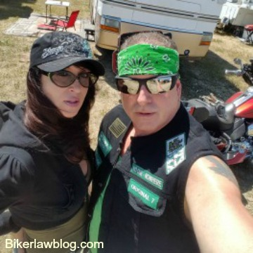 Chula Vista Motorcycle Accident Lawyer Norman Gregory Fernandez with Natalia Dona at Glencoe Campground