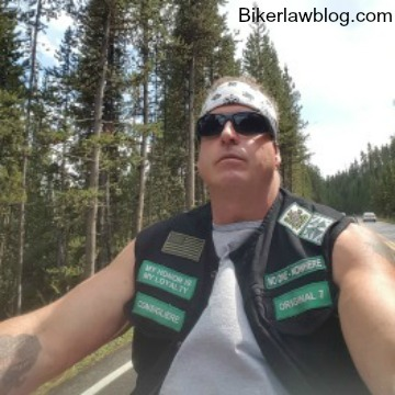 Claremont Motorcycle Accident Lawyer Norman Gregory Fernandez riding Yellowstone National Forest