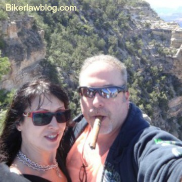 Coachella Motorcycle Accident Lawyer with Natalia Dona at Grand Canyon after Laughlin River Run