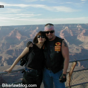 Indio Motorcycle Accident Lawyer Norman Gregory Fernandez with ex wife Liz at Grand Canyon
