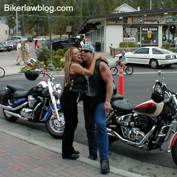 Daly City Motorcycle Accident Lawyer Norman Gregory Fernandez with special friend Brandi Malone in Big Bear