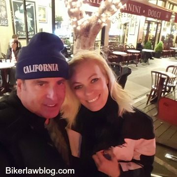 El Segundo Motorcycle accident Lawyer Norman Gregory Fernandez with friend Lena in San Francisco