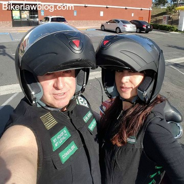 Foster City motorcycle accident lawyer norman gregory fernandez in dana point with special friend natalia
