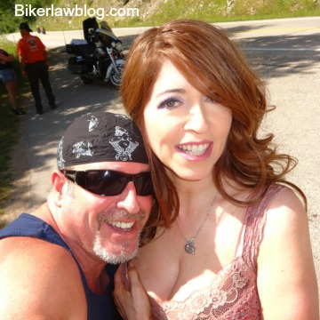 Hawaiian Gardens motorcycle accident lawyer norman gregory fernandez with special friend helena in the black hills of south dakota